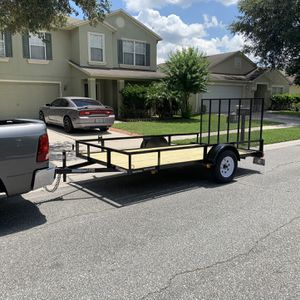 12ft Trailer For Sale Only use Once Four Months Old Keep In Garage 1300.00 for Sale in Edgewood, FL