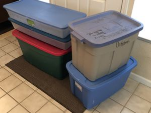 Plastic Storage Containers Totes Bins $5 and $7 for Sale in Elk Grove, CA