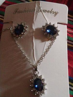Beautiful sapphire necklace set for Sale in Alexandria, VA