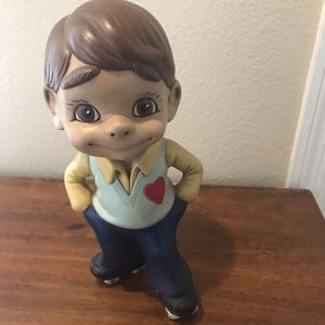 1980s hand-painted boy skating ceramic figurine for Sale in Port Richey, FL