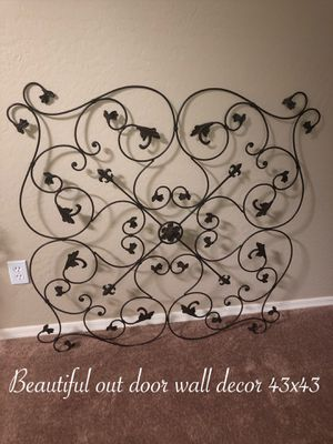 Beautiful large outdoor wall decor 43x43 $45 Firm for Sale in Laveen Village, AZ