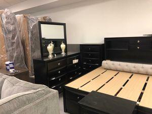 👉 $39 down payment 🥎 -  Emily Black Storage Platform Bedroom Set for Sale in Laurel, MD