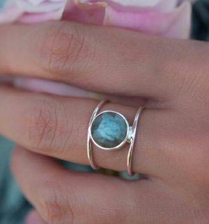 18k Plated 925 Sterling Silver Labradorite Ring for Sale in Wichita, KS