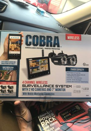 2Cobra surveillance cam with monitor $250 new for Sale in Poway, CA
