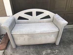 Outdoor resin storage bench deck box seat 54x24x32 for Sale in Davie, FL