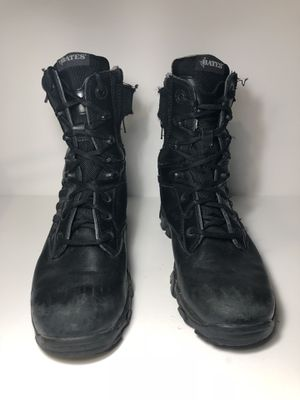 BATES GX-8 Gore-Tex Side Zip Black Leather Work Boots Mens Size US 8.5 E02268 for Sale in San Leandro, CA