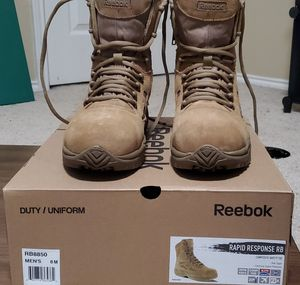Reebok steel toe work boots size 8 mens for Sale in Roanoke, TX
