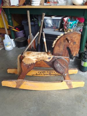 Homemade wooden rocking horse. for Sale in Port Orchard, WA