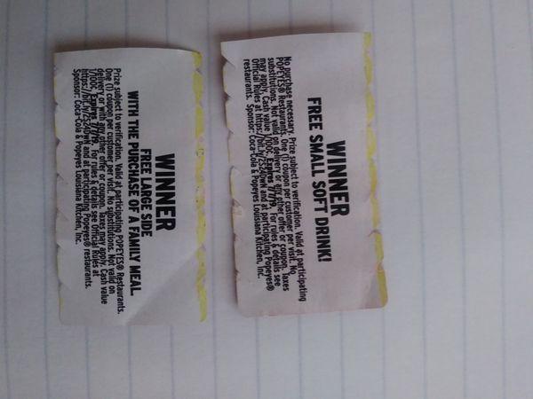 Popeyes free food coupons