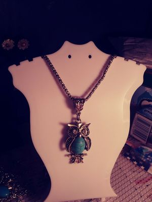 Necklace with owl charm for Sale in Tampa, FL