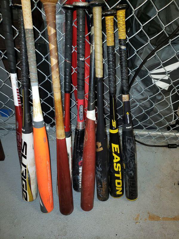 Used Aluminum Baseball Bats