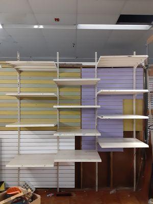 12 Adjustable K-Mart metal retail shelves and brackets for Sale in Homestead, FL
