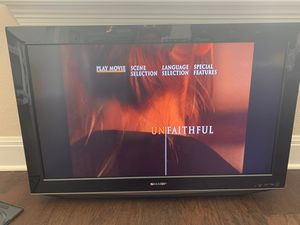 32 inch Sharp TV with built in DVD player for Sale in Pflugerville, TX