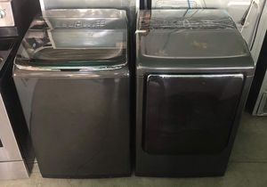 New Samsung Activewash Black Stainless Steel set Washer 5.2 cu ft Dryer 7.5 cu ft for Sale in Montclair, CA