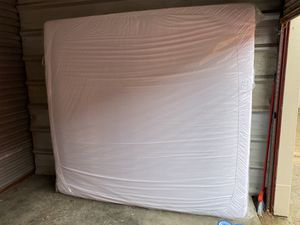 King Sized Mattress + Wood Bed frame for Sale in Fall River, MA
