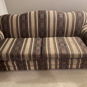 7' Sofa; Good Shape Except For A Few Small Tears. No Pets On Sofa And Is In Non Smoking House for Sale in Boring, OR