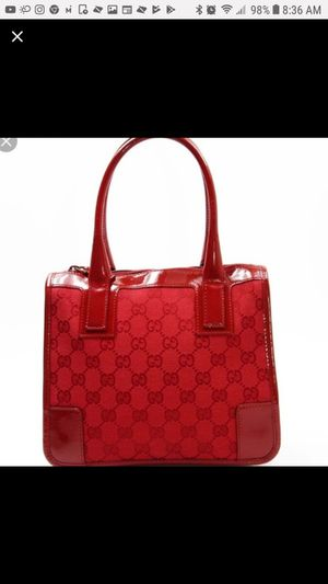 GUCCI JACQUARD PATENT LEATHER BAG for Sale in Aurora, CO