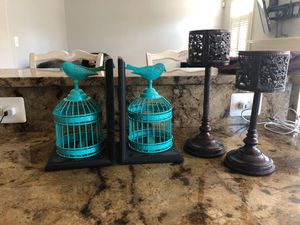 Set of book holders and candle holders for Sale in Sykesville, MD