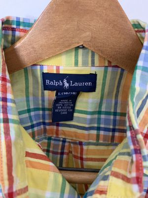 Men's Ralph Lauren Polo shirt. Size: L, Color: Multi, Design: Long Sleeve for Sale in Chevy Chase, MD