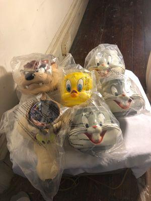 Lot of # 6 1992 Looney tunes 3D coffee mugs for Sale in Wilmington, DE