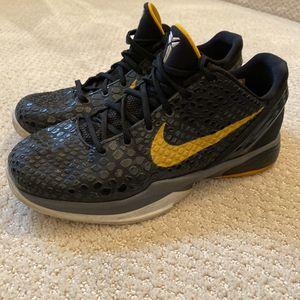 Nike Kobe 6 VI Del SOL Lakers Black Gold Gray Sz 6Y Boys 429913-001 for Sale in Redlands, CA