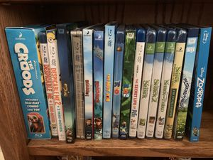 I am selling 18 children's Blu-rays for Sale in San Bruno, CA