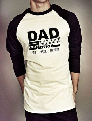 Dad-Nation Black & White baseball Tee All Sizes for Sale in Dallas, TX