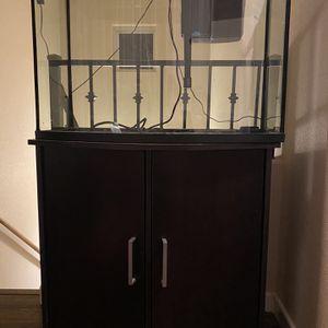 36 gallon fish tank w/ accessories for Sale in Seattle, WA