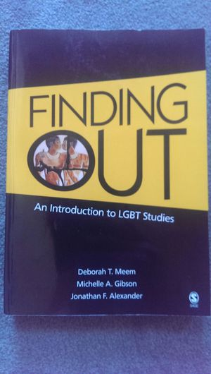 Finding Out: An Introduction to LGBT Studies for Sale in Pittsburgh, PA