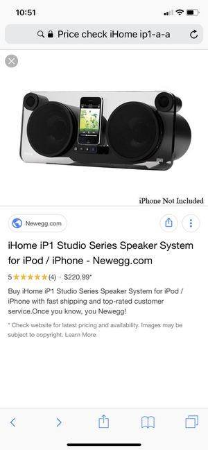 IHome iP 1 Studio series Speaker System For iPods and iPhones for Sale in Columbus, OH