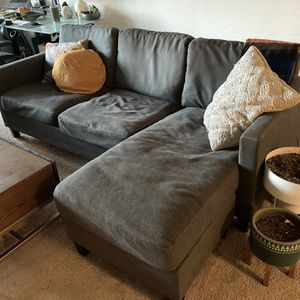Grey Fabric Sectional Couch World Market for Sale in El Segundo, CA