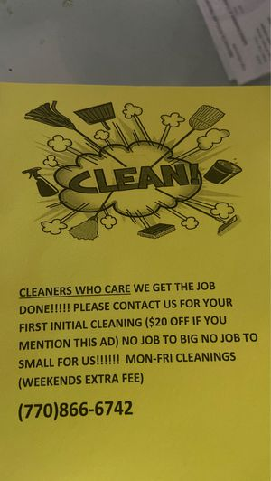 Cleaners who care for Sale in Mableton, GA