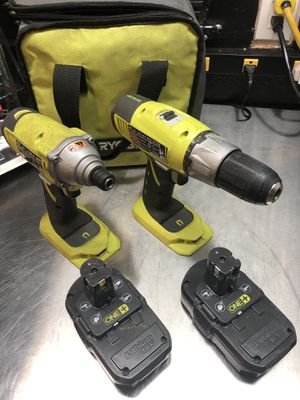 """Ryobi One+ 1/2"""" drill and impact wrench with 2 batteries and charger for Sale in Marysville, WA"""