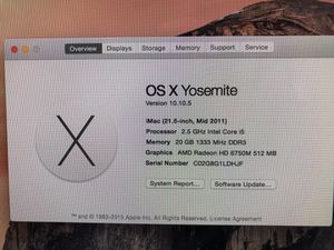 Fast IMAC, Upgraded, 20 Gig RAM, 500 Gig Hard Disk Storage, CPU Intel Core i5 for Sale in Manchester, MO