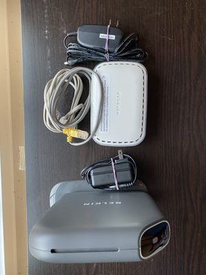 Netgear DSL Modem and Belkin Play N600 Dual Band N Router for Sale in Alexandria, VA