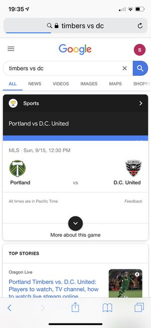 Timbers vs DC for Sale in Vancouver, WA