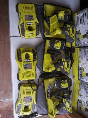 $100 each or $260 for all 3 sets Brushless 1/2 in. Hammer Drill/Driver Kit for Sale in San Antonio, TX