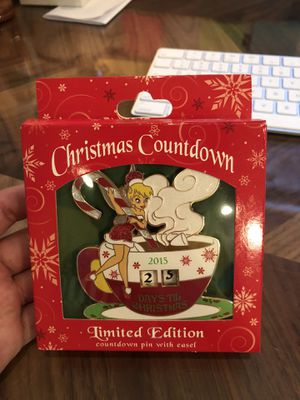 LE of 2000; Christmas Countdown Disney Pin 2015 ft. Tinkerbell for Sale in Los Angeles, CA