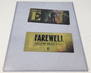 Elton John 3D Lenticular Collectible Ticket 2019 Farewell Yellow Brick Road Tour for Sale in Margate, FL