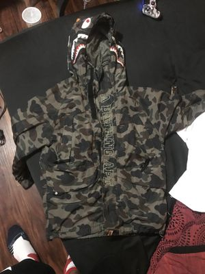 A bathing ape raincoat for Sale in Gaithersburg, MD