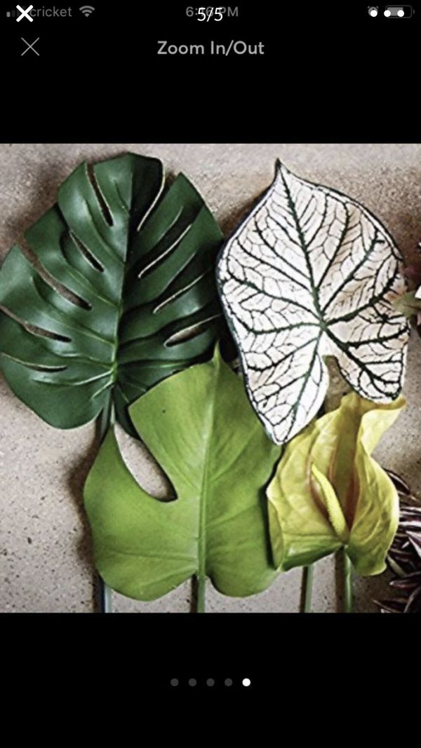 Artificial monstera plant leaves flake(20 pieces)