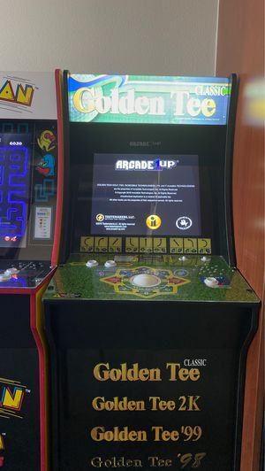 1up ARCADE GOLDEN TEE CLASIC 4games for Sale in Las Vegas, NV