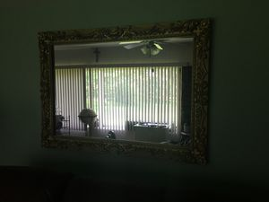 Mirror - ornate gold frame. 3' x4' for Sale in Perkiomenville, PA