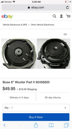 Premium Bose 8 inch subwoofers 2017 Chevy SS for Sale in Obetz, OH