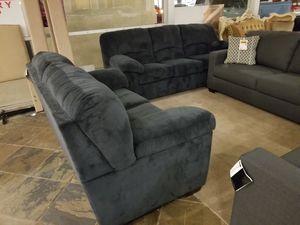 Navy Plush Sofa and Loveseat Set for Sale in Phoenix, AZ