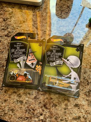 2pk Hot Wheels Nightmare Before Christmas 25th anniversary NEW for Sale in Riverside, CA