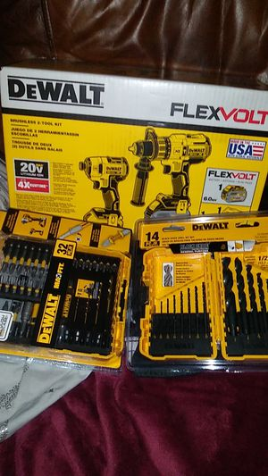 DeWalt impact drill hammer drill flexvolt battery drill bit set screw driving bit set included for Sale in Jacksonville, FL