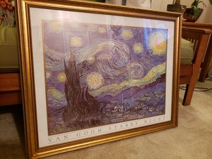 "Framed van gogh starry night 25"" x 30"" for Sale in Alexandria, VA"