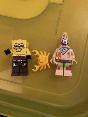 Legos SpongeBob SquarePants, Patrick and a crab Mini figures for Sale in Hollywood, FL
