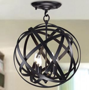 Caged Globe Semi Mount Light Fixture - New for Sale in Takoma Park, MD
